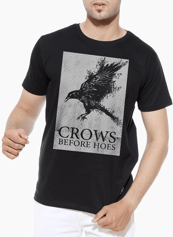 Tipu Sultan T-shirt SMALL / Black Crows Before Hoes Half Sleeves T-shirt