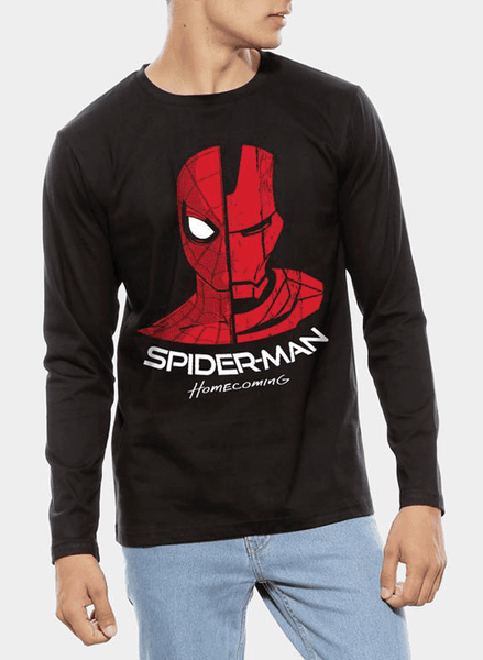 Tipu Sultan T-shirt SMALL / Black Spiderman Homecoming Reunion Full Sleeves T-shirt