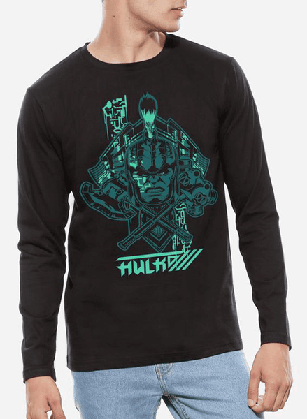 Tipu Sultan T-shirt SMALL / Black Thor Ragnarok - Hulk Classic Full Sleeves T-shirt