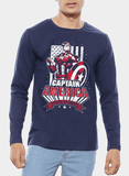 Tipu Sultan T-shirt SMALL / Navy Captain America Sentinel of Liberty Full Sleeves T-shirt