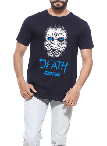 Tipu Sultan T-shirt SMALL / Navy Death Is Coming GOT Half Sleeves T-shirt