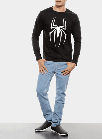 Tipu Sultan T-shirt Spiderman Homecoming Logo Full Sleeves T-shirt