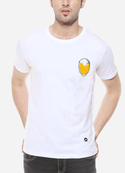 Tipu Sultan T-shirt The Invincible - White Men's Superhero Half Sleeve Pocket Print T Shirt