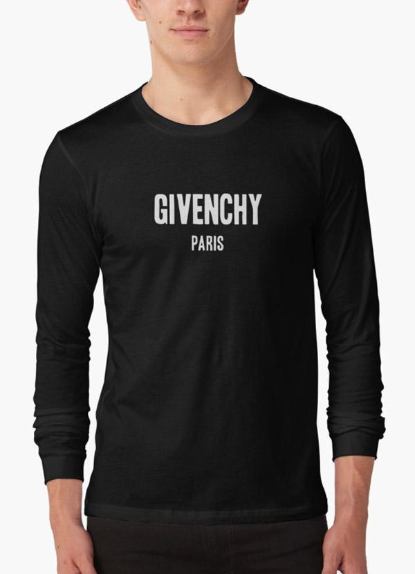 acheter populaire 1e7bb 13ed3 Givenchy Paris BLACK FULL SLEEVES T-SHIRT