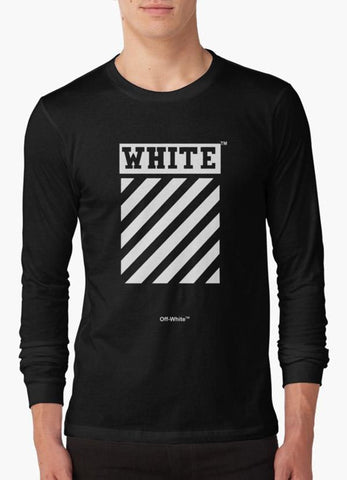 Tommy Nease Full Sleeves T-Shirts Off-White Black BLACK FULL SLEEVES