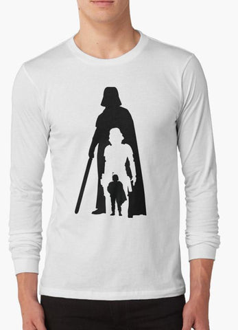 Tommy Nease Full Sleeves T-Shirts Star Wars 2 BLACK & WHITE FULL SLEEVES T-SHIRT