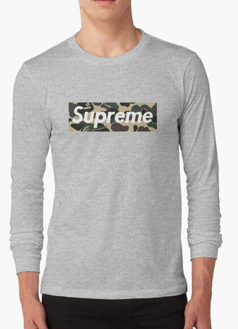 Tommy Nease Full Sleeves T-Shirts Supreme Camo GRAY FULL SLEEVES T-SHIRT