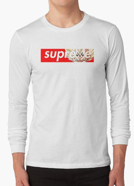 Tommy Nease Full Sleeves T-Shirts Supreme Majin Vegeta WHITE FULL SLEEVES T-SHIRT