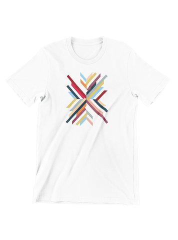 Tommy Nease T-SHIRT Abstract Geometric White T-Shirt
