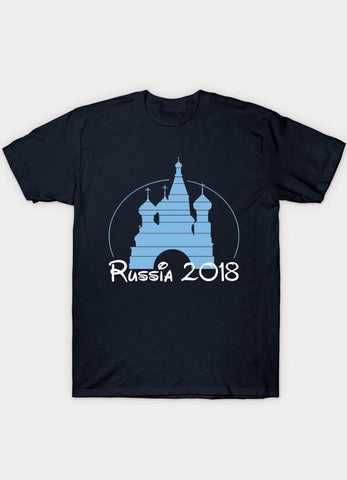 Usman Ali T-SHIRT Disney Russia 2018 WorldCup Navy  T-Shirt