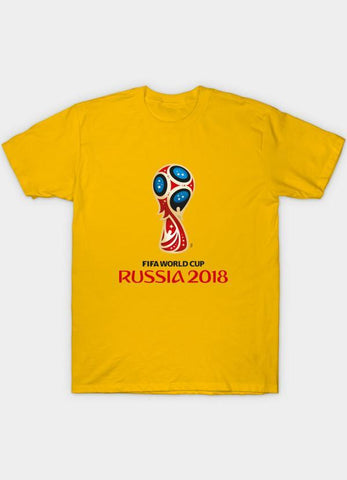 Usman Ali T-SHIRT Fifa World Cup Rusia 2018 Yellow  T-Shirt