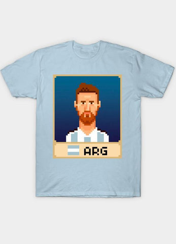 Usman Ali T-SHIRT Messi Skyblue T-Shirt