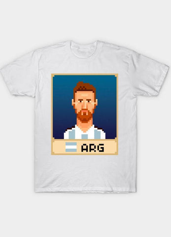 Usman Ali T-SHIRT Messi White T-Shirt