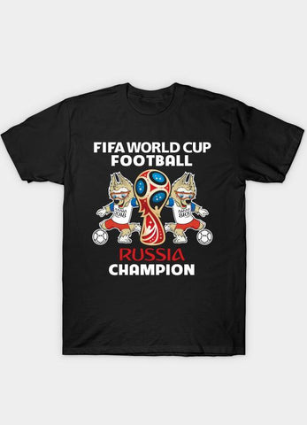 Usman Ali T-SHIRT WORLD CUP FOOTBALL  Black T-Shirt