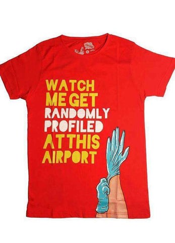Uth-Oye T-SHIRT Airport Half Sleeves Printed Tshirt