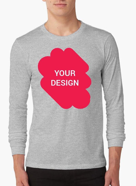 Virgin Teez Design your own Full Sleeves T-shirt | Custom T-Shirt | T-Shirt Printing Online