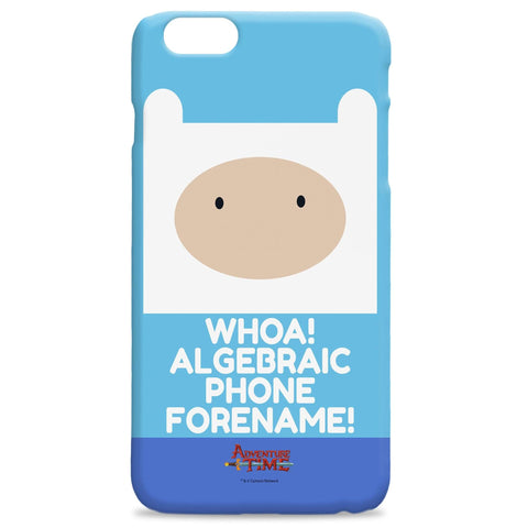 Virgin Teez Mobile Cover Adventure Time Finn Flat Quote iPhone Case