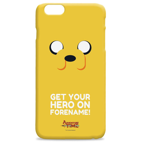 Virgin Teez Mobile Cover Adventure Time Jake Flat Quote iPhone Case