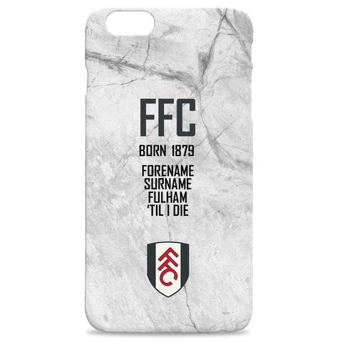 Virgin Teez Mobile Cover Fulham FC 'Til I Die Hard Back Phone Case