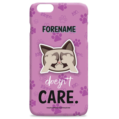 Virgin Teez Mobile Cover Grumpy Cat Emoji - Doesn't Care iPhone Case Pink