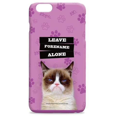 Virgin Teez Mobile Cover Grumpy Cat - Leave Alone Phone Case