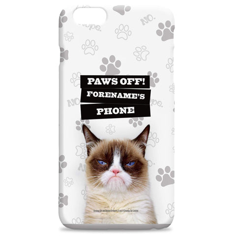 Virgin Teez Mobile Cover Grumpy Cat - Paws Off Grey Phone Case