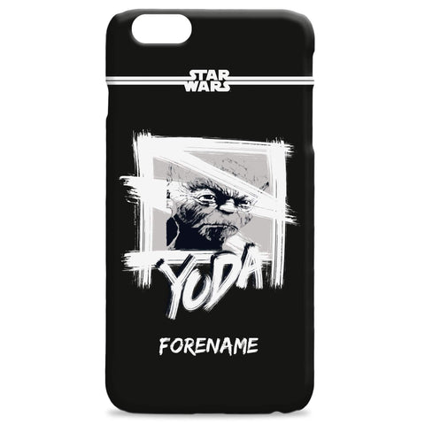Virgin Teez Mobile Cover Star Wars Yoda Paint iPhone Phone Case