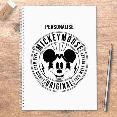 Virgin Teez Notebook Mickey Mouse 1928 Original Personalised A5 Notebook