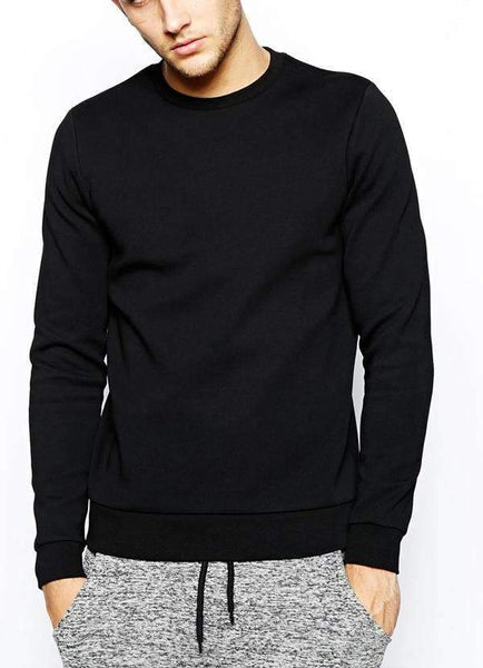 Virgin Teez Sweat Shirt Premium Black Sweat Shirt