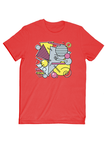 Virgin Teez T-SHIRT 80s - Memphis Pattern black