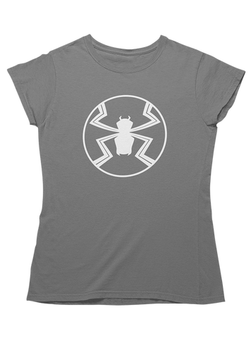 Virgin Teez T-SHIRT Agent Venom Emblem Women T-Shirt