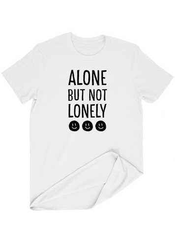 Virgin Teez T-SHIRT Alone But Not Lonely T-SHIRT