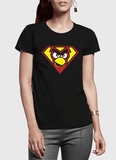 Virgin Teez T-shirt Angry Bird Half Sleeves Women T-shirt