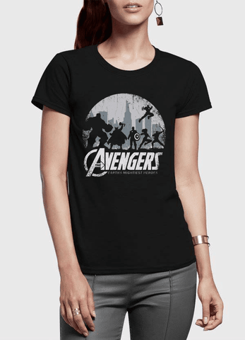 Virgin Teez T-shirt Avengers Half Sleeves Women T-shirt