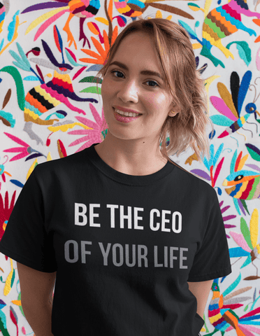 Virgin Teez T-SHIRT Be The CEO Of Your Life Women T-shirt