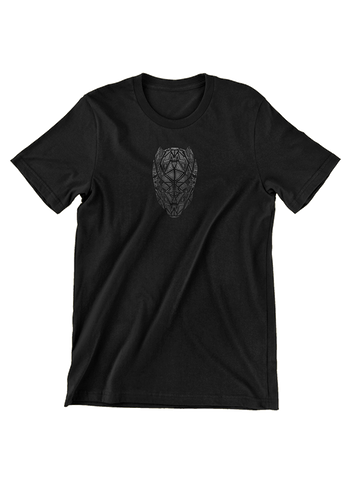 Virgin Teez T-SHIRT Black Panther Geometric Mask T-Shirt