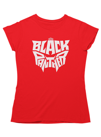 Virgin Teez T-SHIRT Black Panther Typography Women T-Shirt