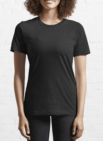 Virgin Teez T-shirt Black Plain Half Sleeves T-Shirt Women