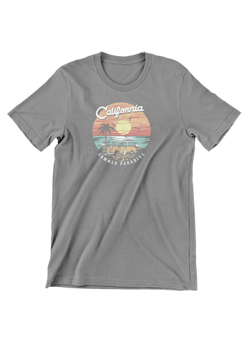 VIRGIN TEEZ T-SHIRT California Summer Paradise T-Shirt