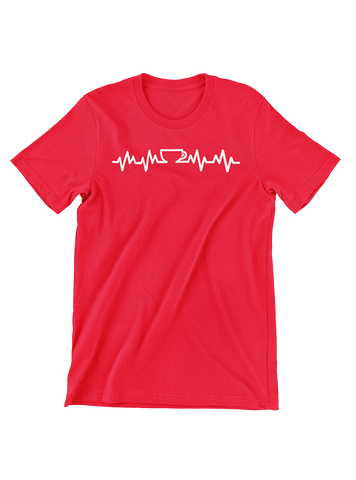 VIRGIN TEEZ T-SHIRT Coffee Lifeline T-Shirt