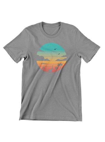 VIRGIN TEEZ T-SHIRT Cretaceous Sunset T-Shirt