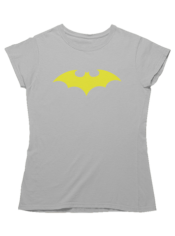 Virgin Teez T-SHIRT DC Yellow Logo Women T-Shirt