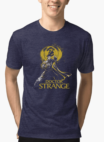 Virgin Teez T-shirt DOCTOR STRANGE Half Sleeves Melange T-shirt