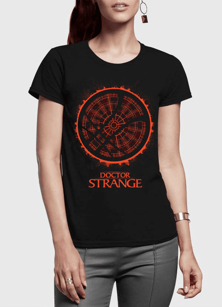 Virgin Teez T-shirt DOCTOR STRANGE LOGO Half Sleeves Women T-shirt