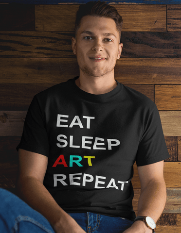 Virgin Teez T-SHIRT Eat Sleep Art Repeat T-shirt