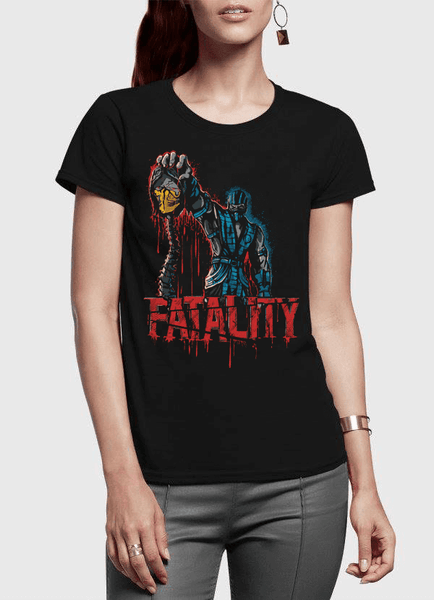 Virgin Teez T-shirt FATALITY Half Sleeves Women T-shirt