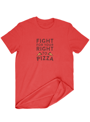 Virgin Teez T-SHIRT Fight For Your Right To Pizza T-SHIRT