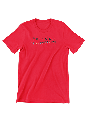Virgin Teez T-SHIRT Friends Christmas Lights T-Shirt