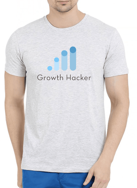 Virgin Teez T-shirt Growth Hacker Half Sleeves Melange T-shirt