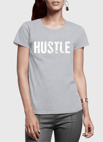 Virgin Teez T-shirt Hustle Half Sleeves Women T-shirt